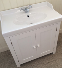 Traditional White Bathroom Vanity Cabinet.
